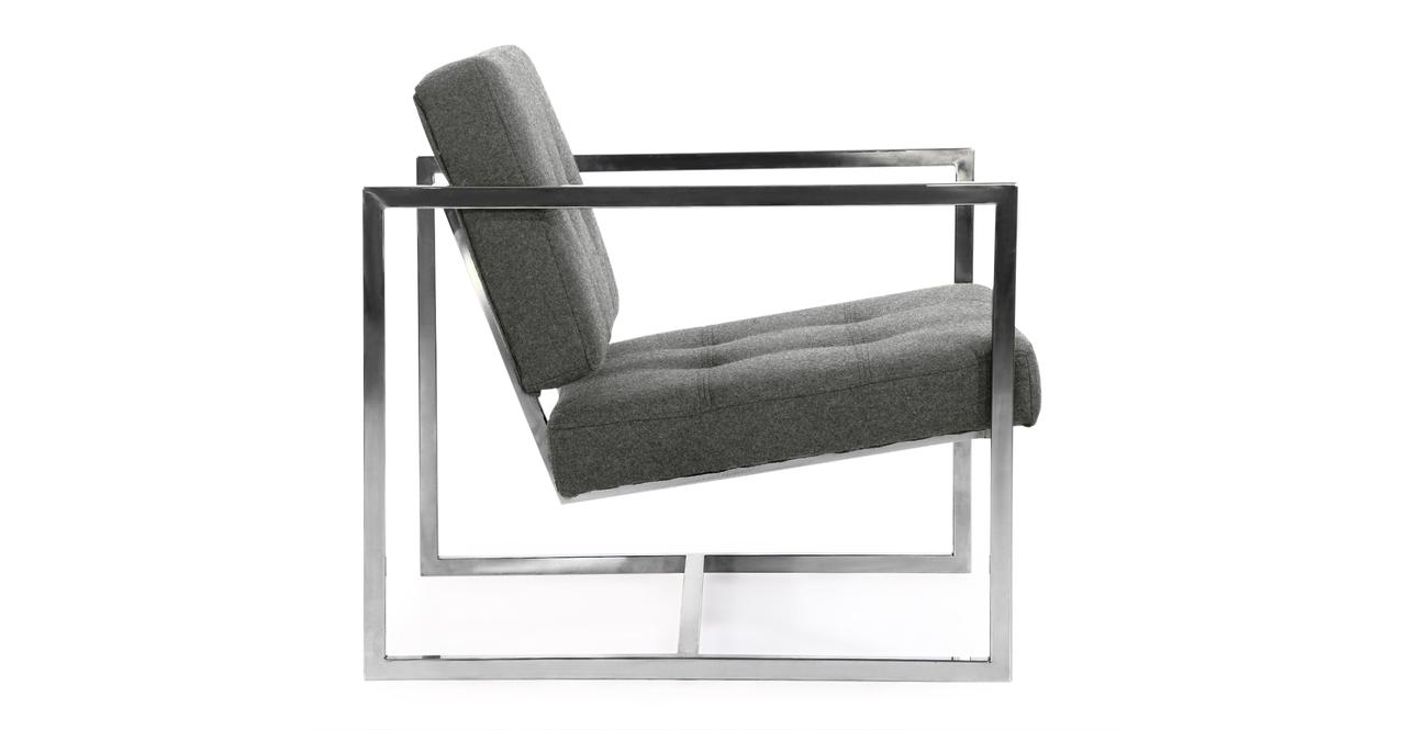 Cube Chair, Cadet Grey