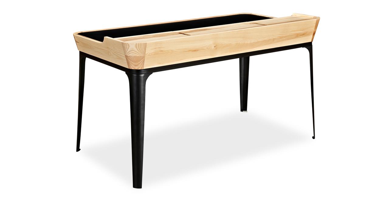 Garbo Desk, Ash/Black