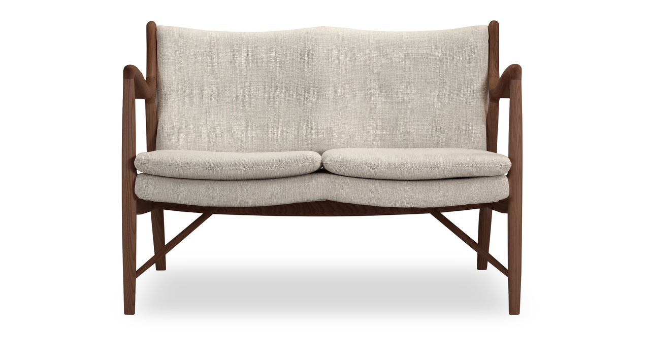 "Copenhagen 47"" Fabric Sofa, Urban Hemp/Walnut"