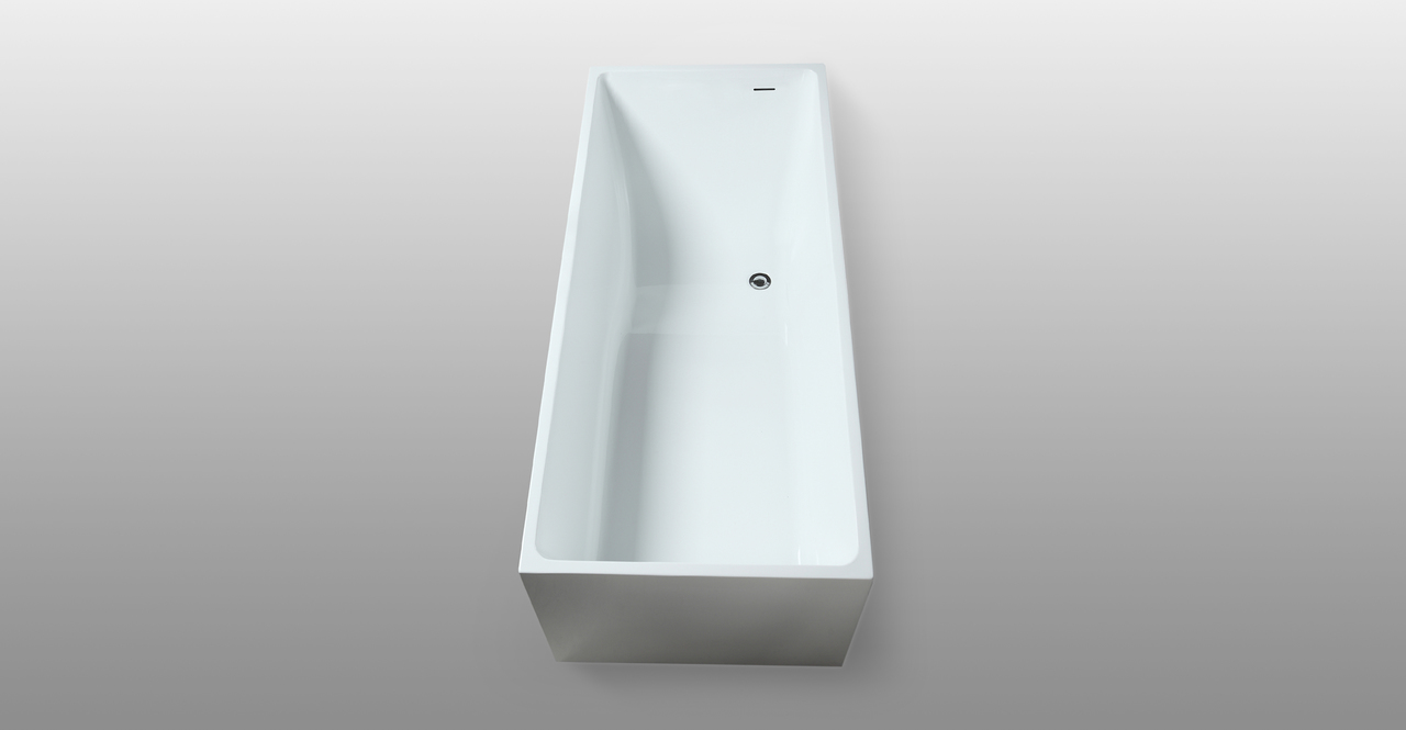 "Pompeii Slope Tub 67"" Rectangle Overflow"