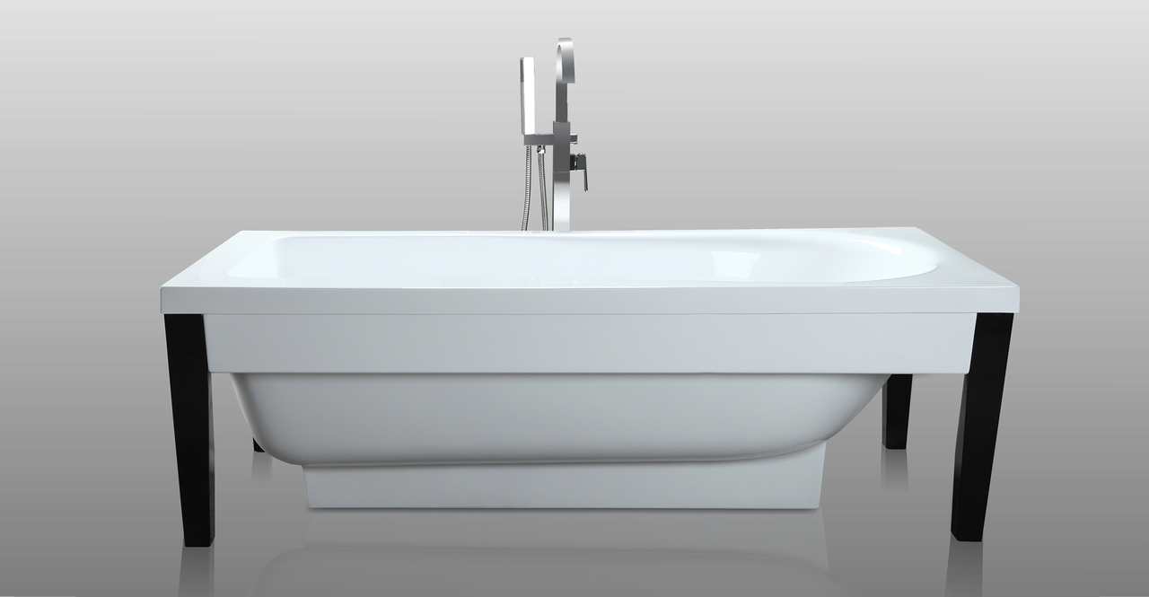 "Athenaeus Bathtub 71"", White"