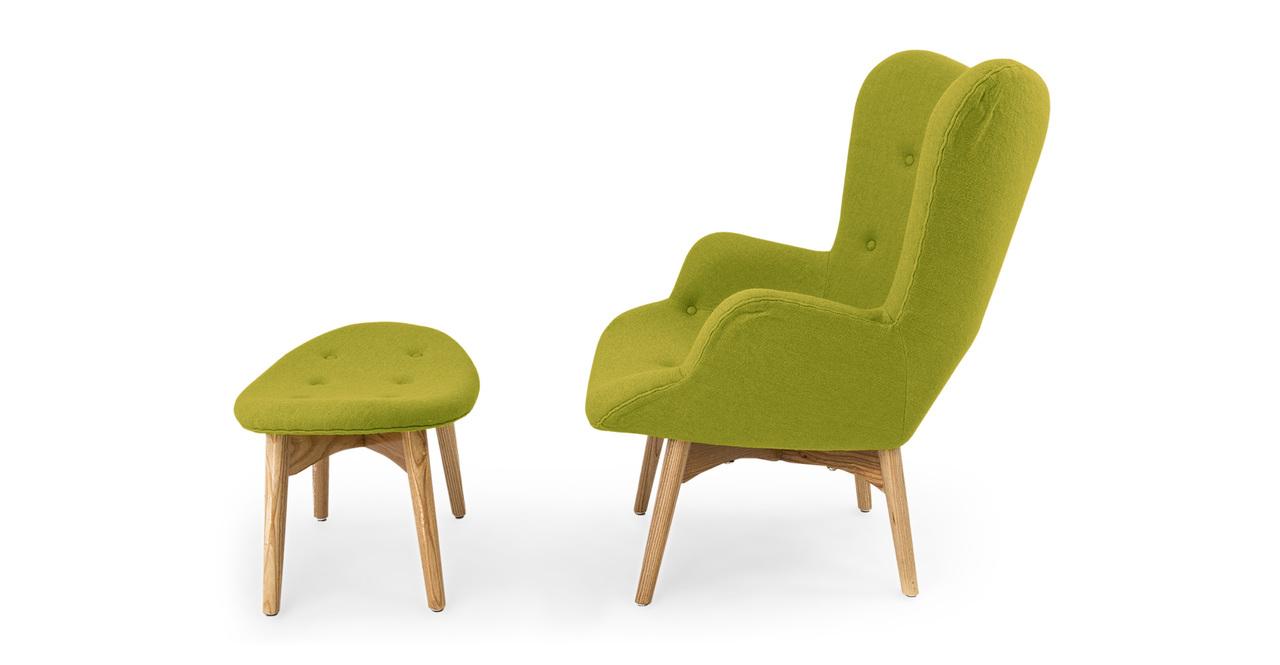Contour Chair & Ottoman, Leaf