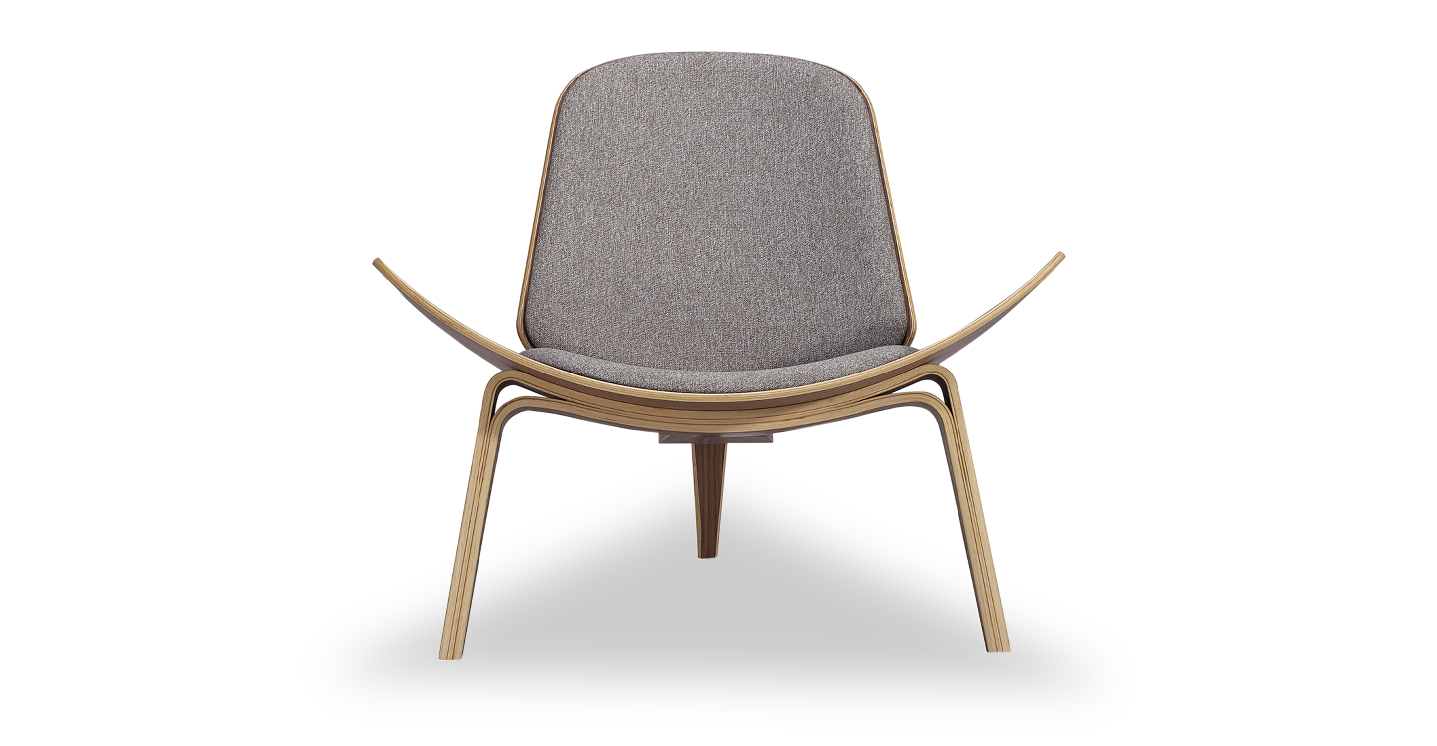 "Tripod 36"" Fabric Chair, Walnut/Urban Pebble"