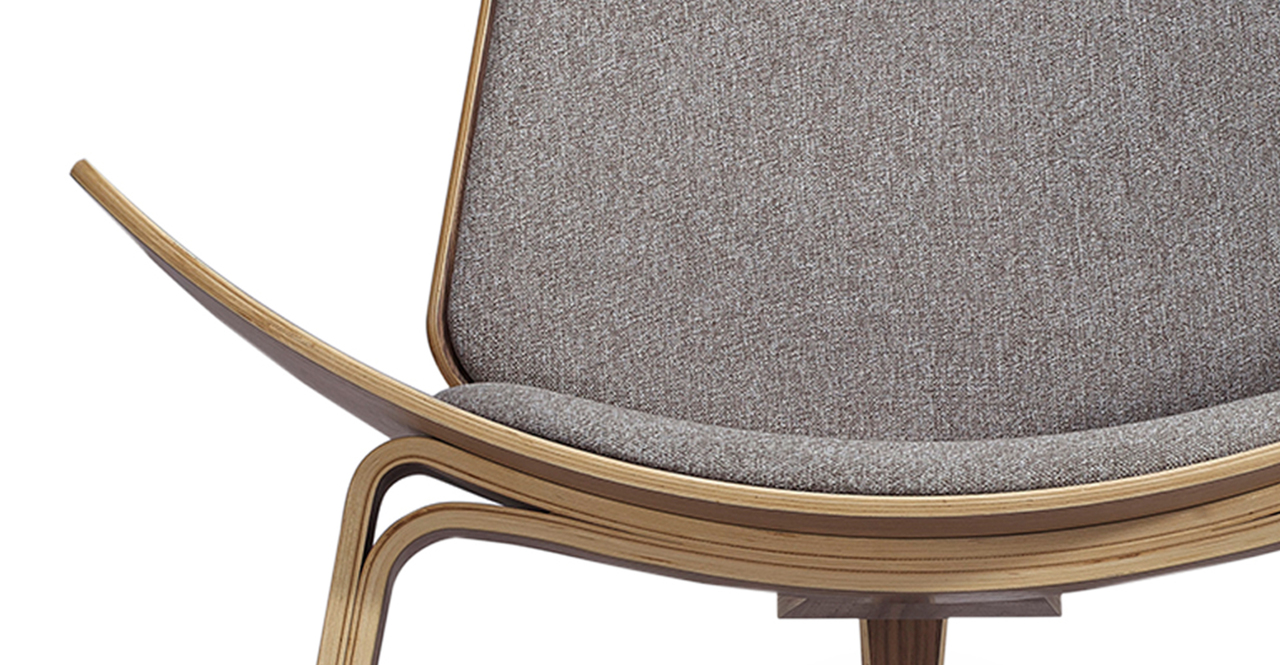 Tripod Chair, Urban Pebble/Walnut