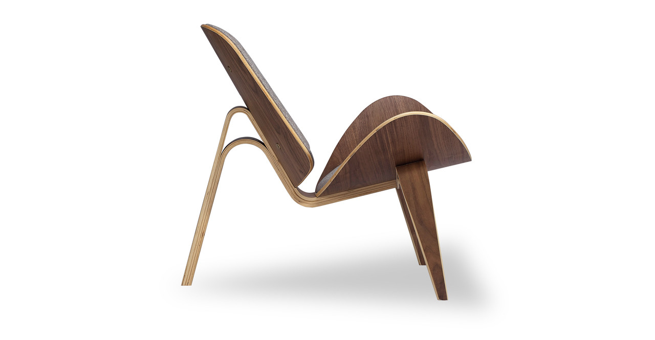 Tripod Chair, Walnut/Urban Pebble