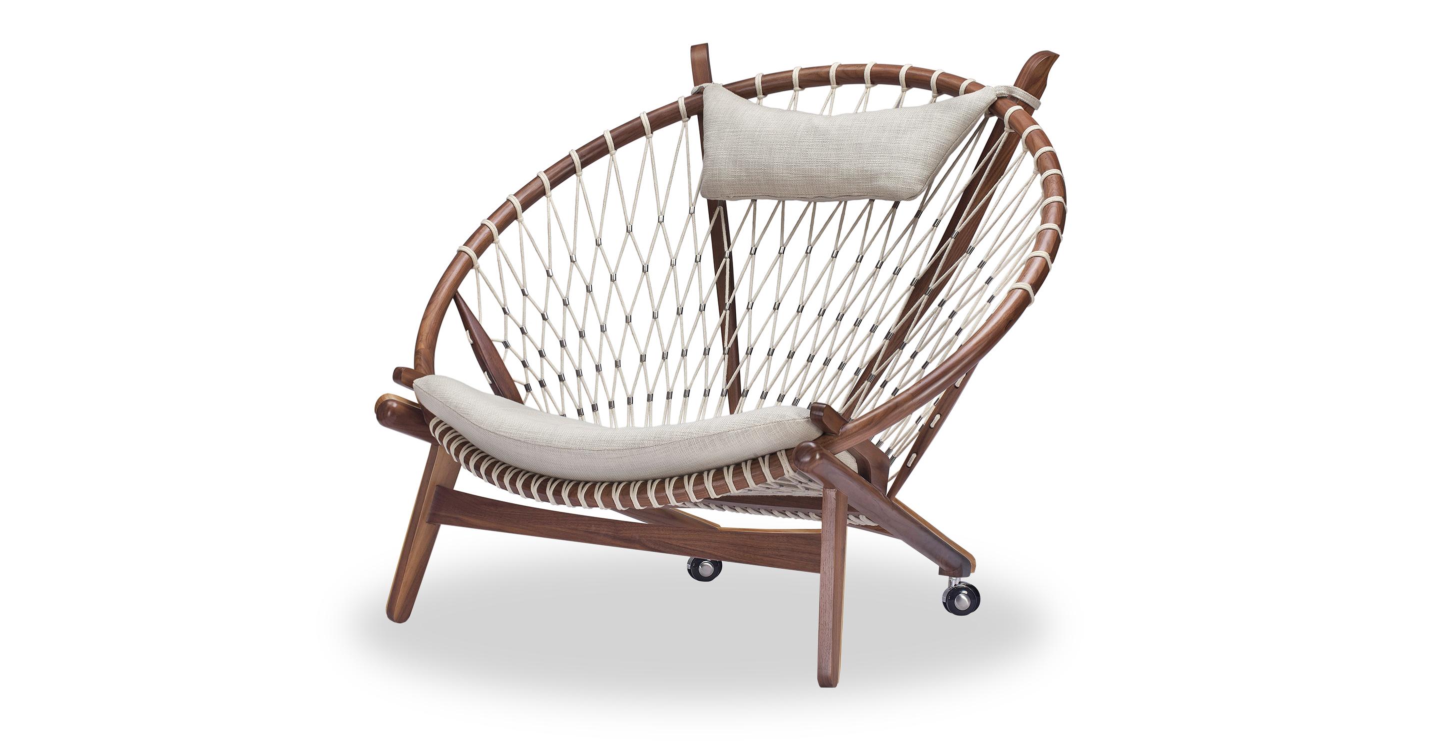 "Circle 45"" Hoop Chair, Walnut/Urban Hemp"