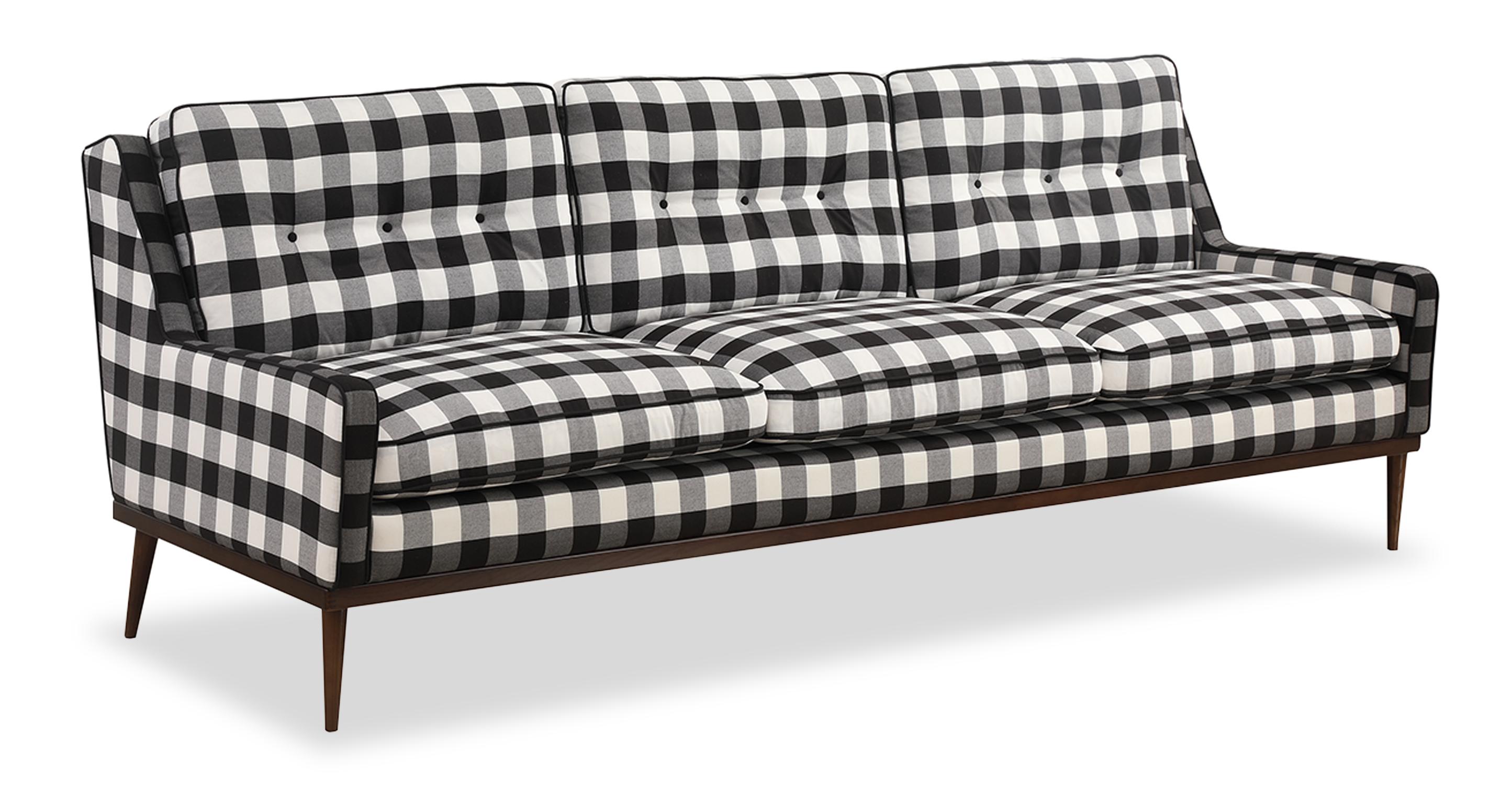 "Elektra 93"" Fabric Sofa, Window Pane"