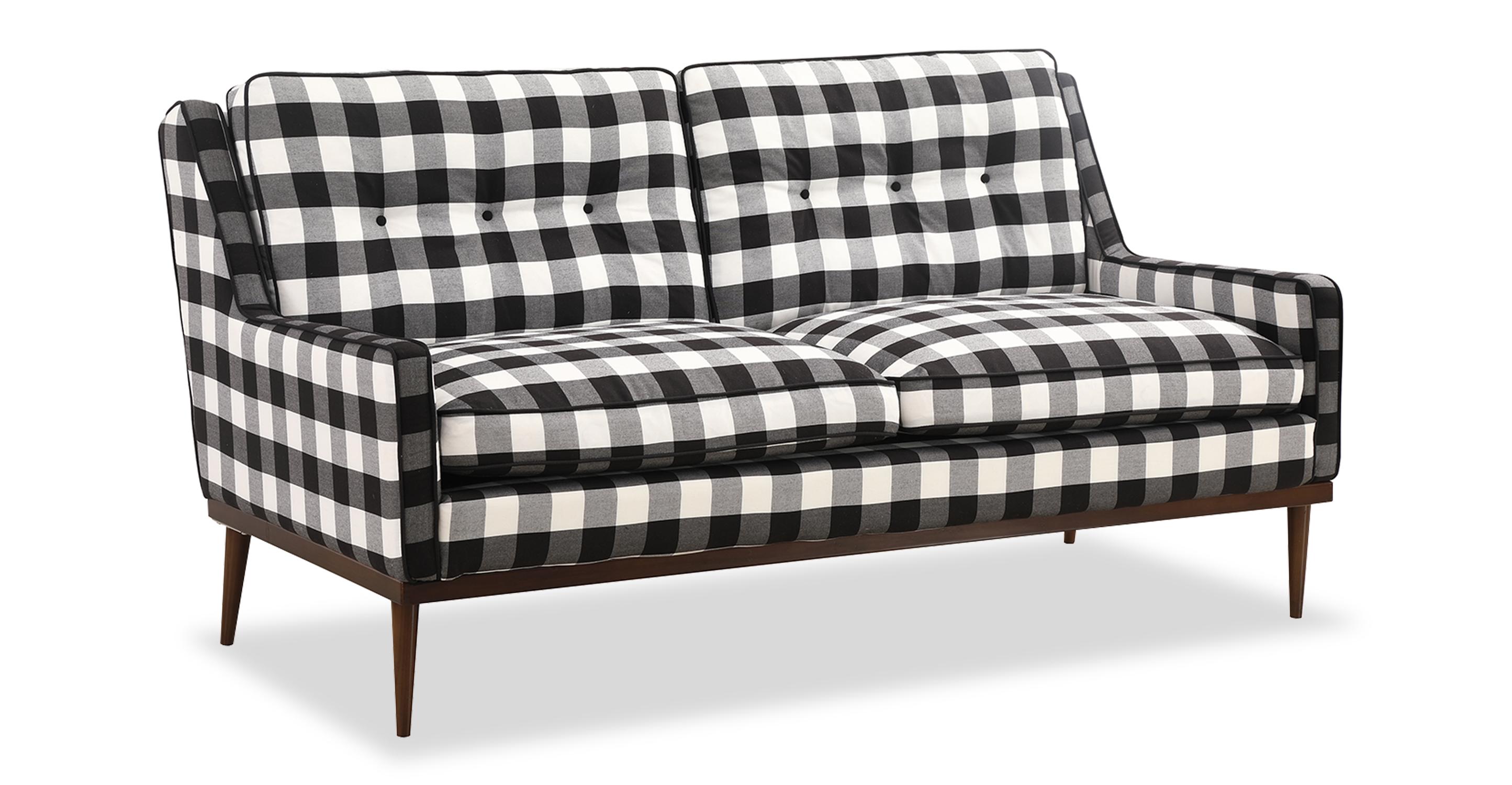 "Elektra 64"" Fabric Sofa, Window Pane"