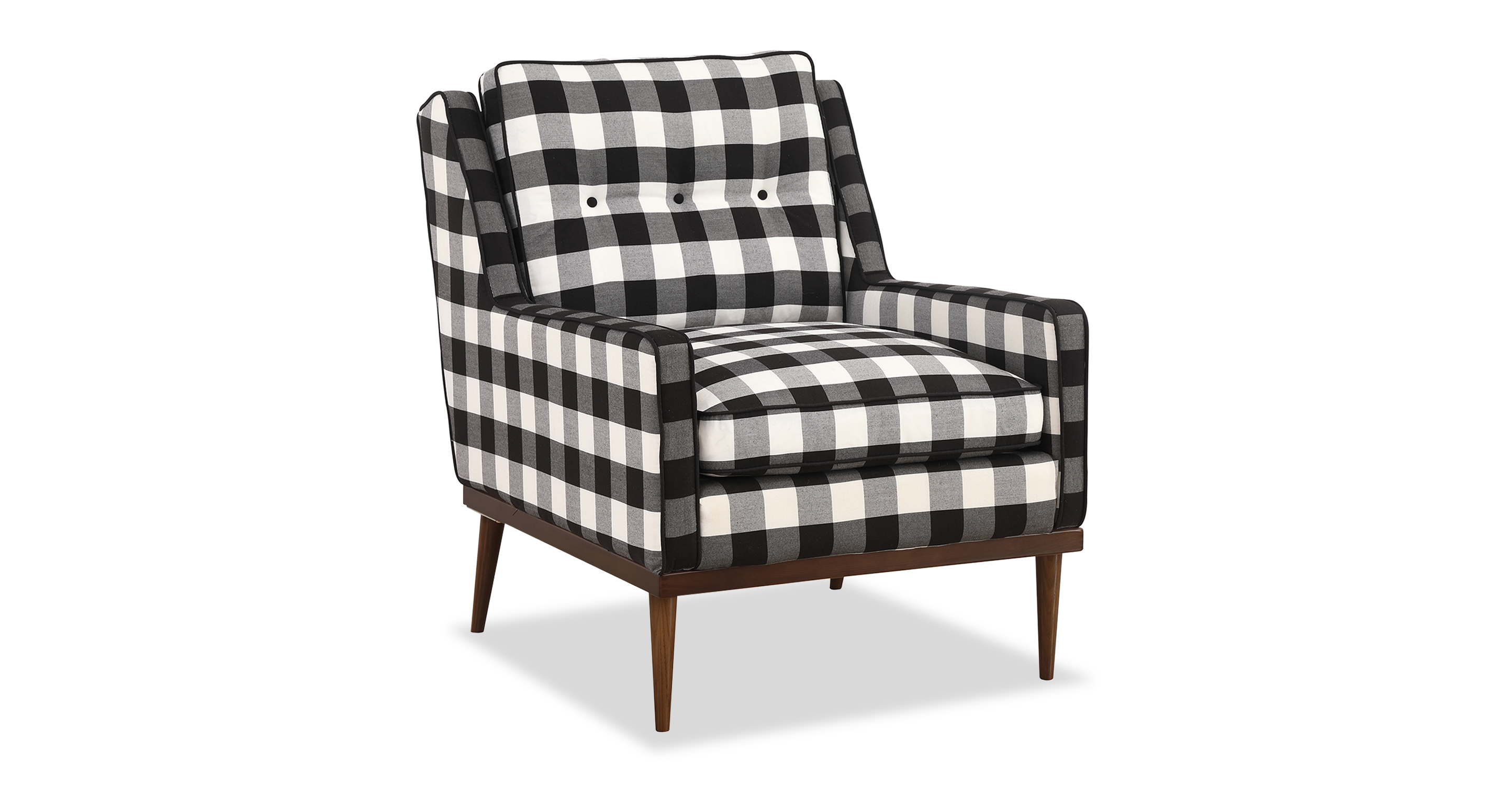 "Elektra 27"" Fabric Armchair, Window Pane"
