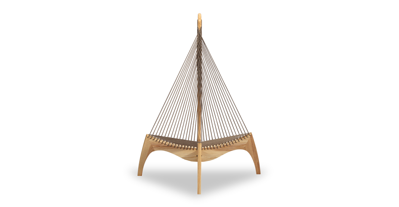 Harp Lounge Chair, Ash