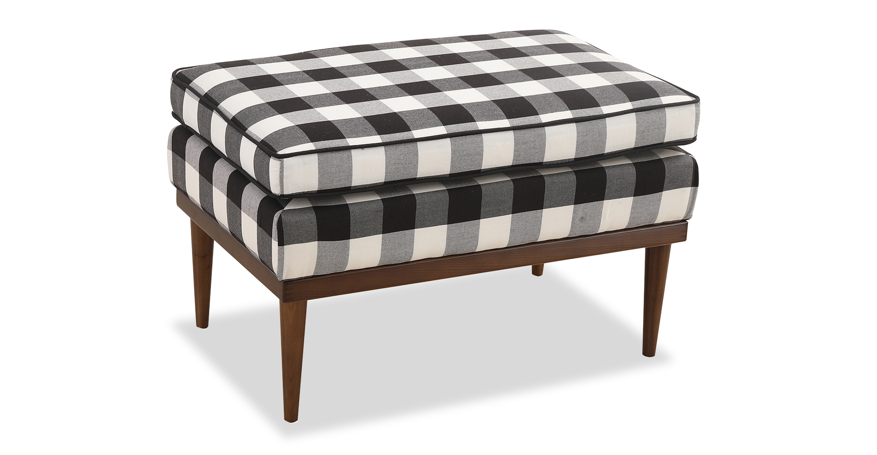"Elektra 26"" Fabric Ottoman, Window Pane"