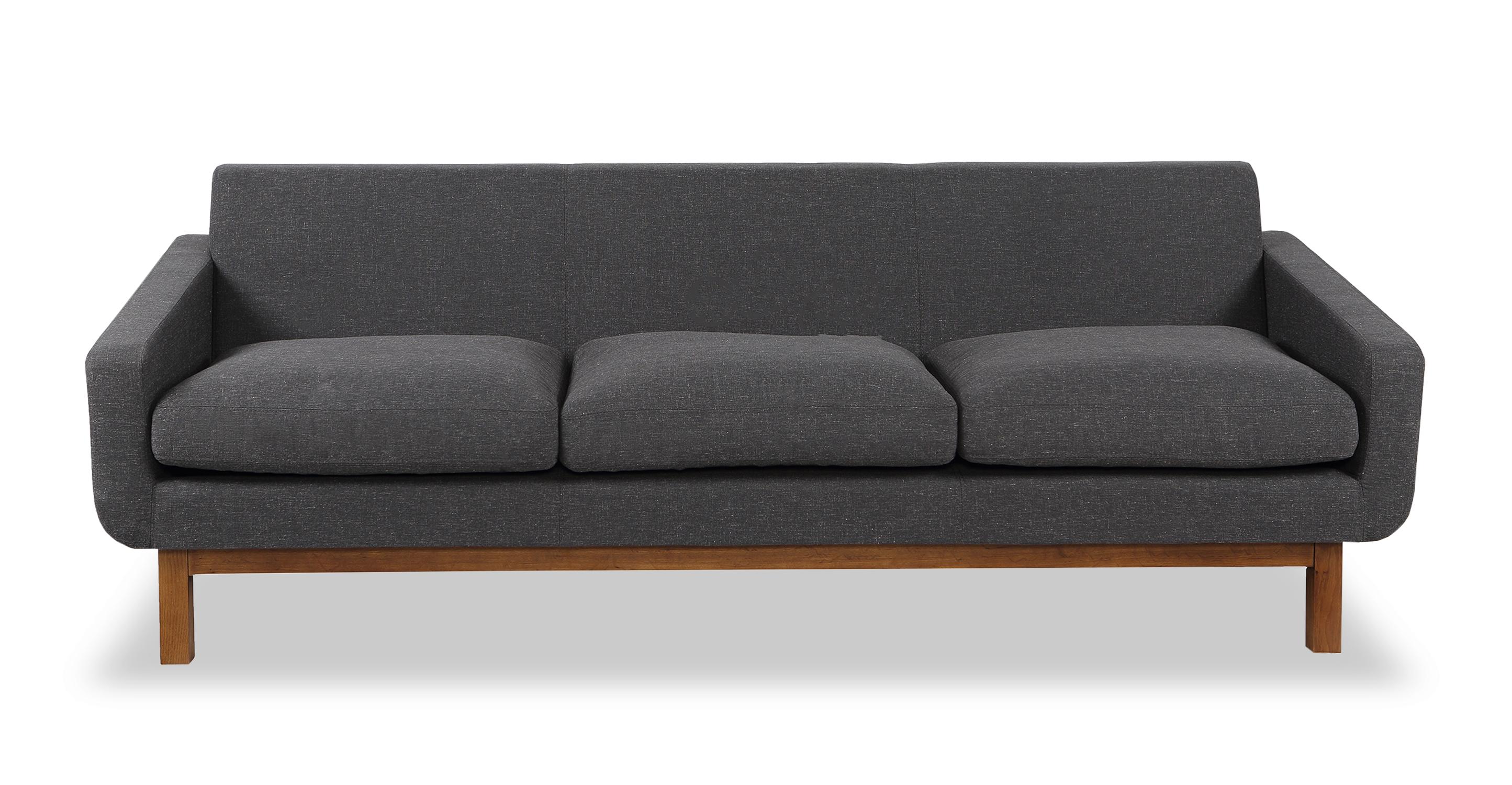 "Platform 80"" Fabric Sofa, Walnut/Shale"