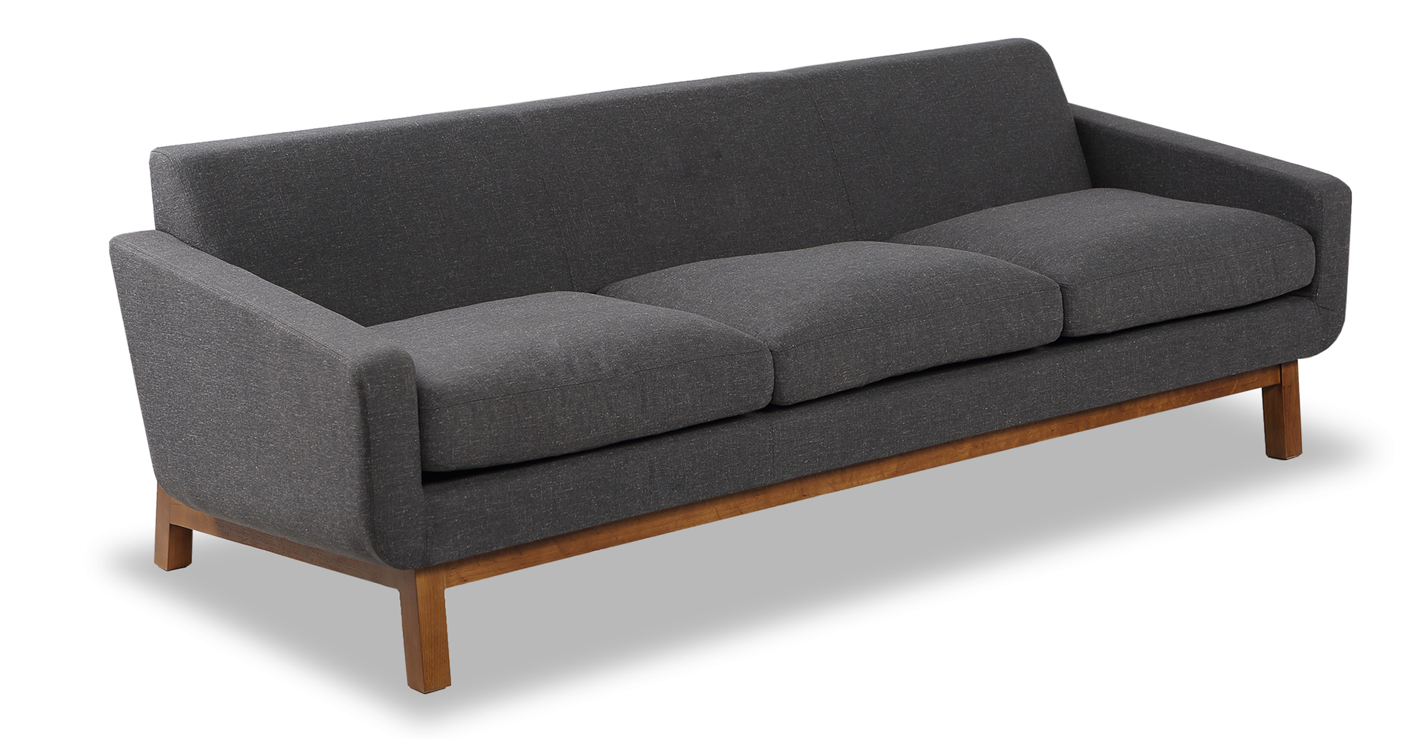 "Platform 80"" Fabric Sofa, Walnut/Shale"
