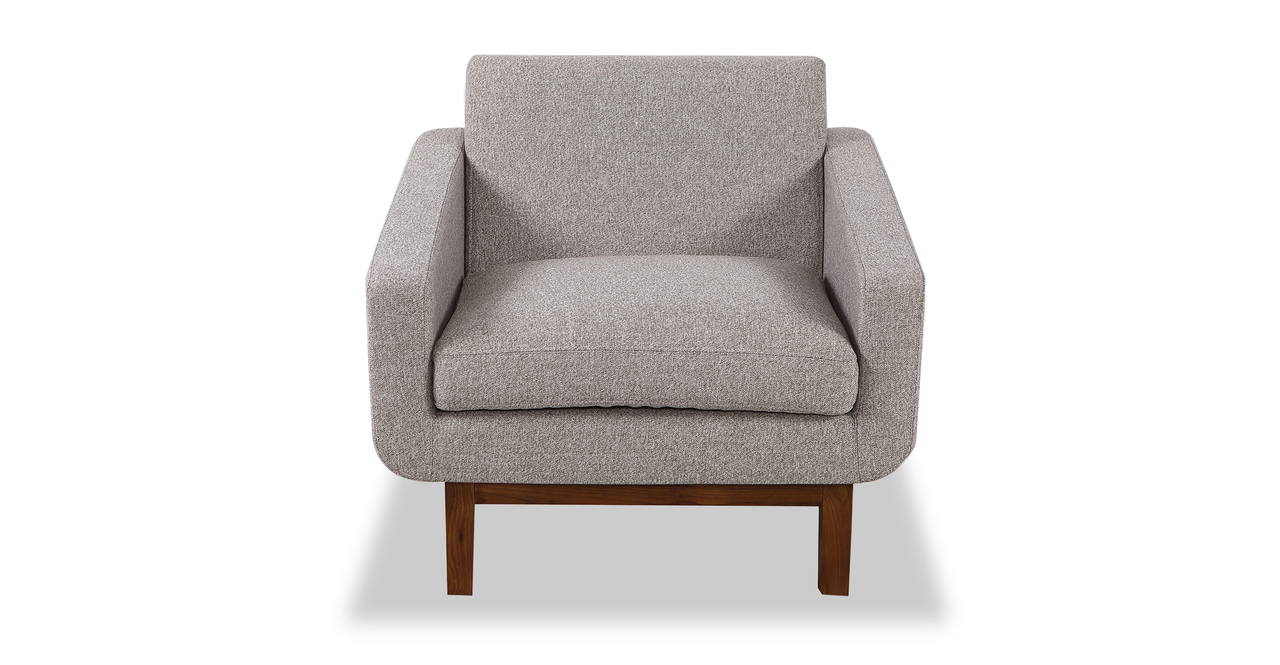 Platform Chair, Urban Pebble/Walnut