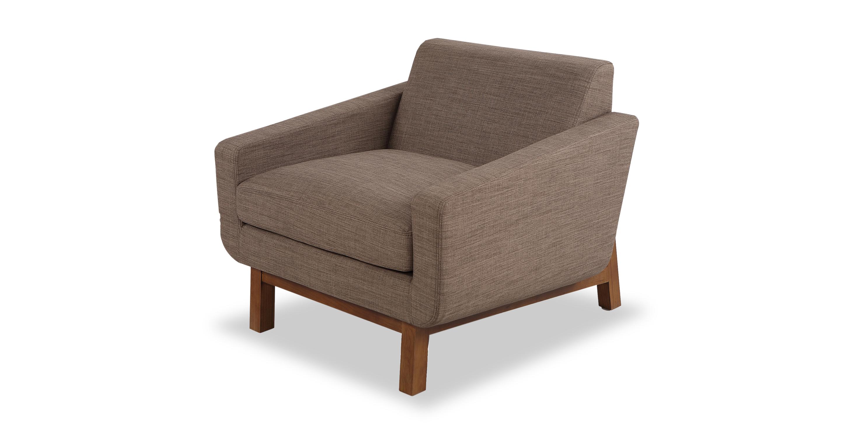 "Platform 32"" Fabric Chair, Walnut/Tundra"