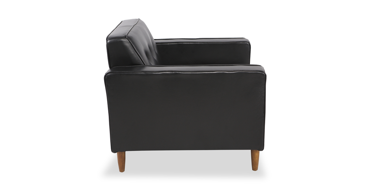 Eleanor Chair, Black Premium Leather
