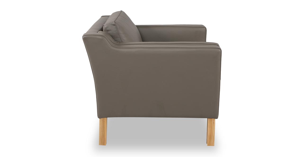 Monroe Chair, Grey Aniline Leather