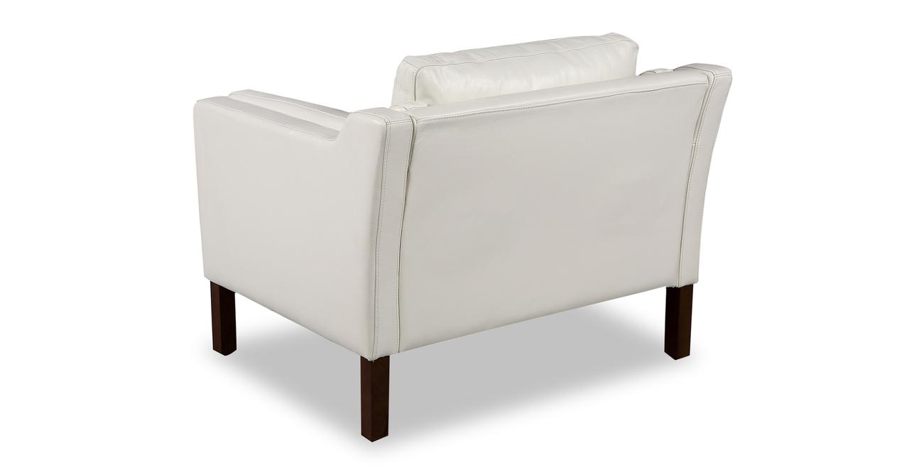 Monroe Chair, White Aniline Leather