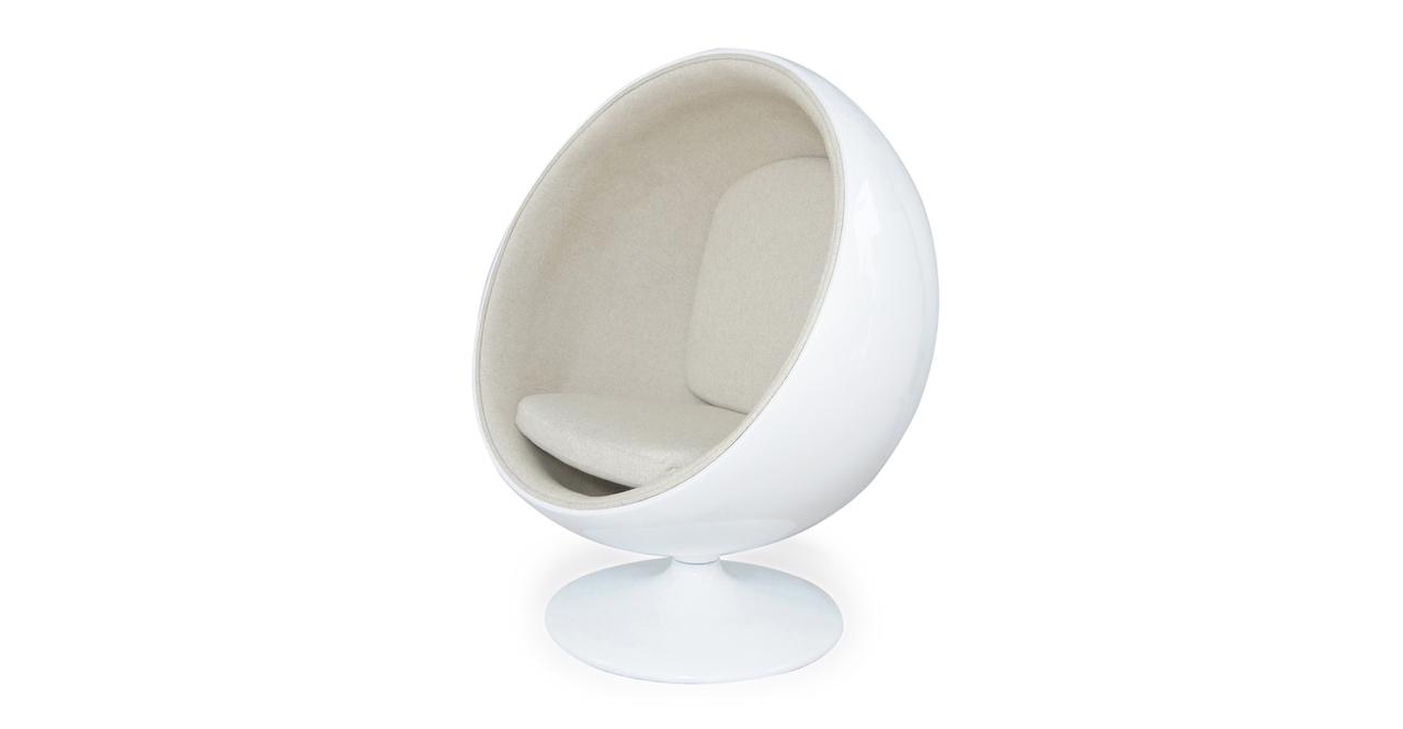 Ball Chair, White/White Peacoat