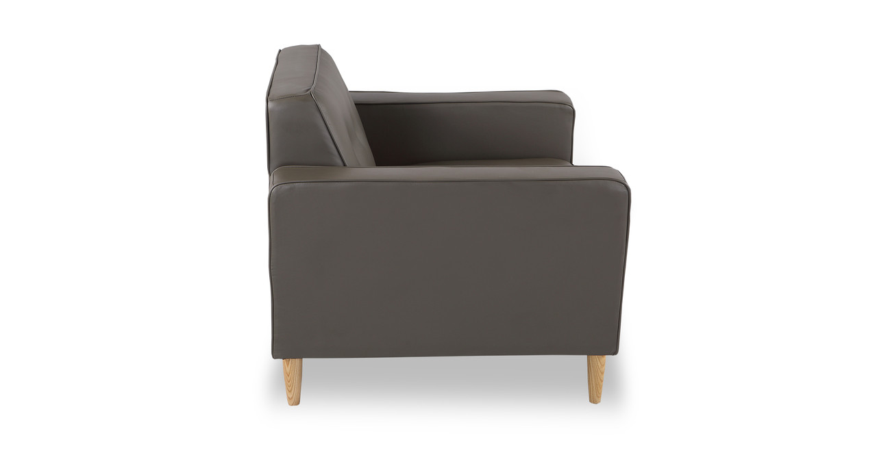 Eleanor Chair, Grey Premium Leather