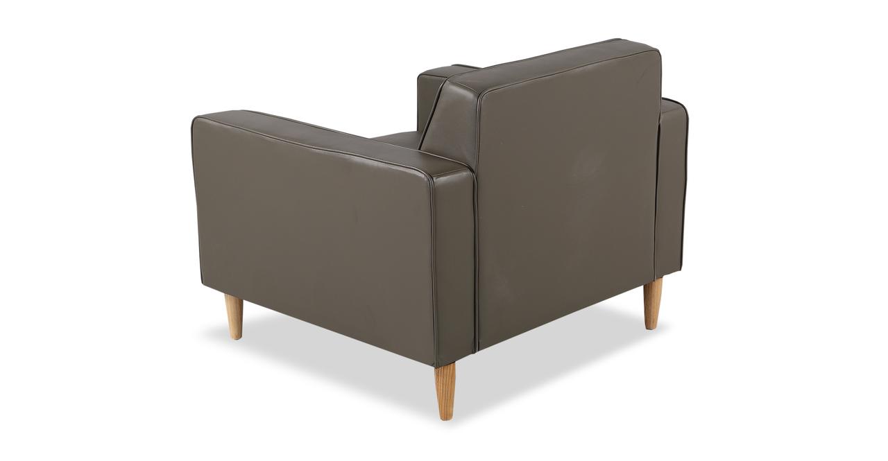 Eleanor Chair, Grey Premium Leather