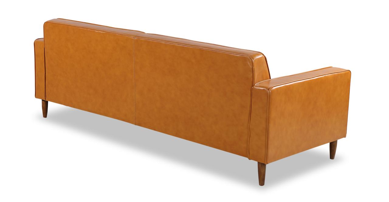 """Eleanor 87"""" Leather Sofa, Tan Premium"""