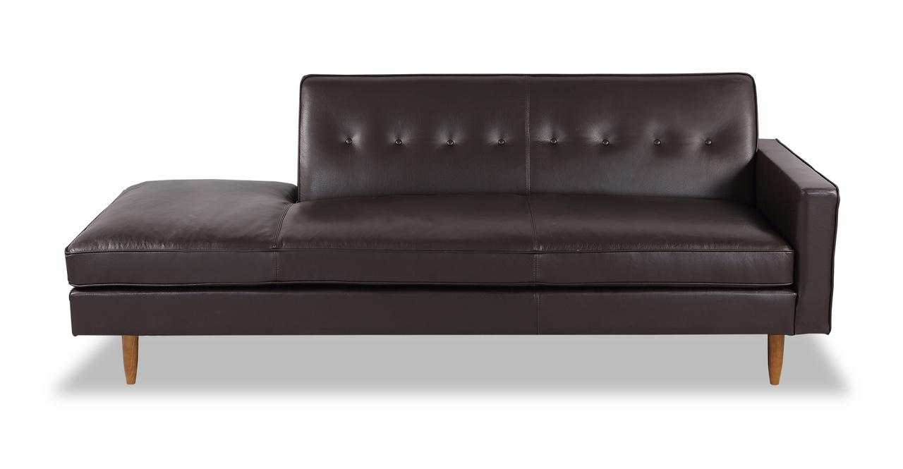 Eleanor Sofa Right, Brown Premium Leather