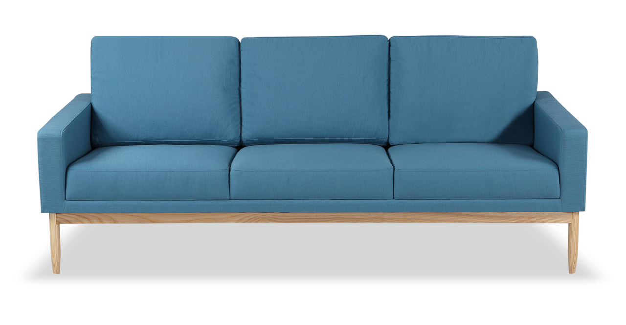 "Stilt Danish Mod 85"" Fabric Sofa, Urban Surf/Ash"