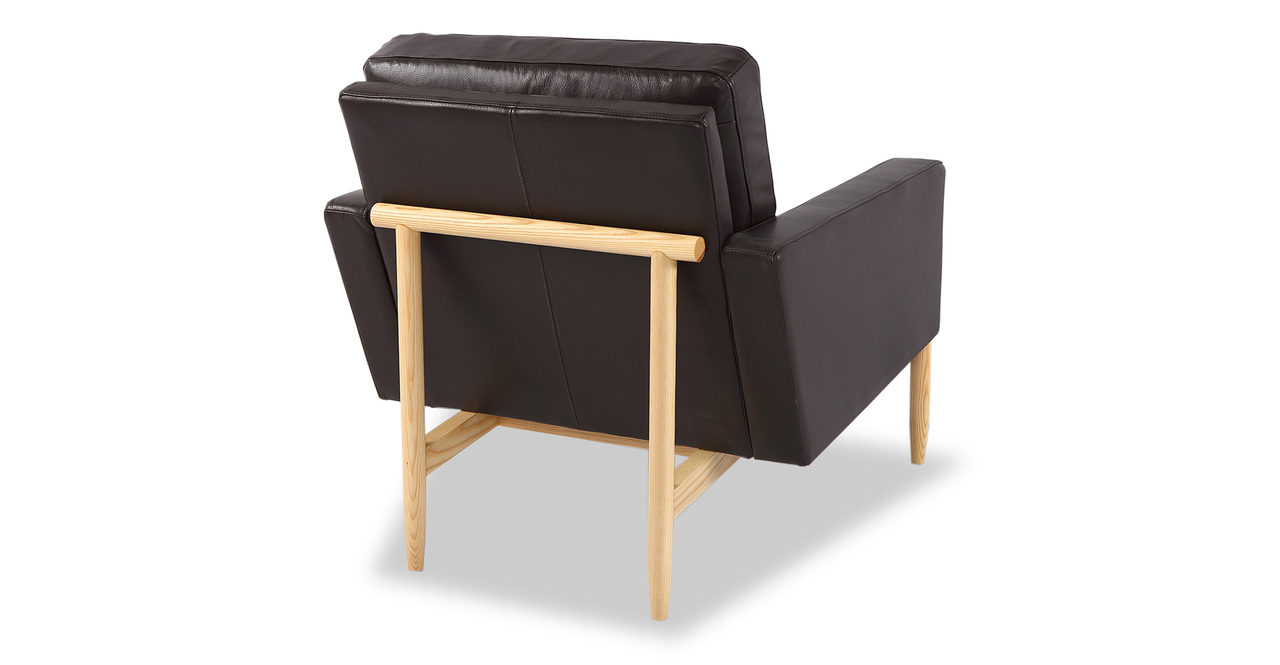 Stilt Danish Mod Chair, Brown Aniline Leather/Ash
