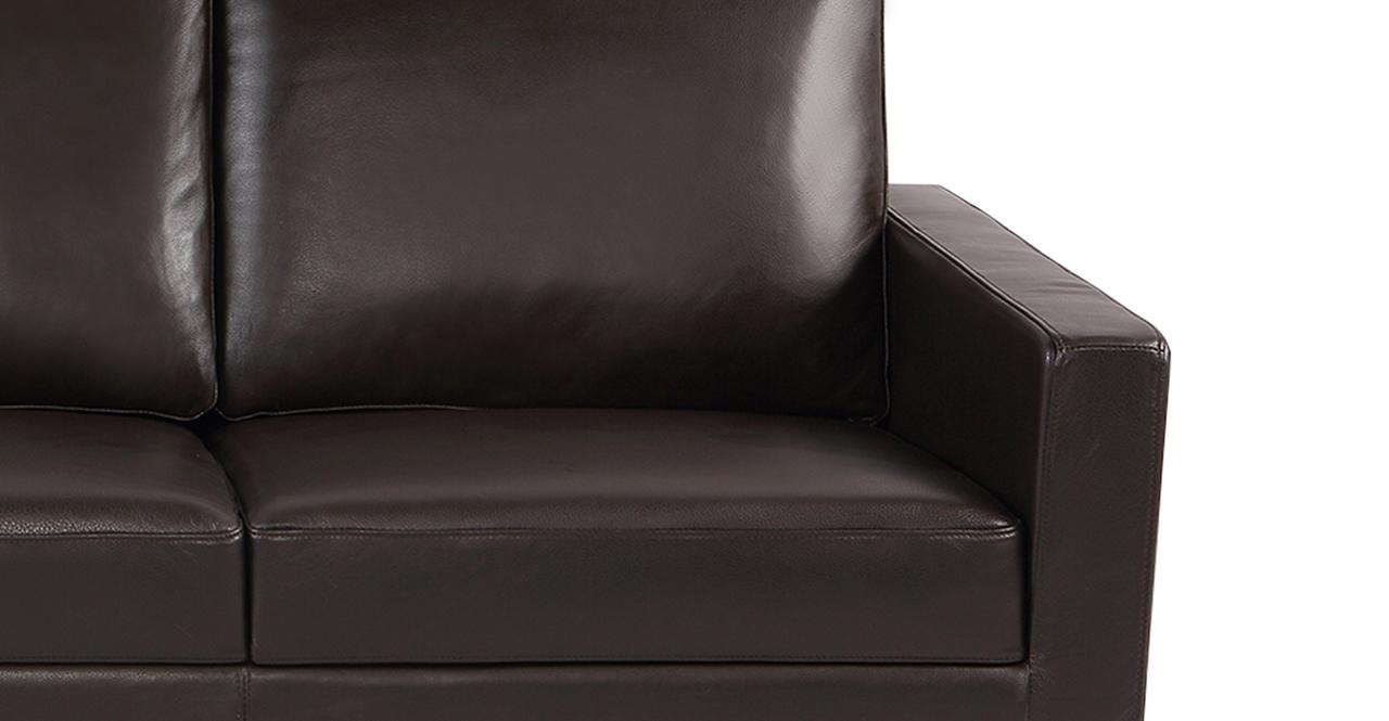 "Stilt Danish Mod 85"" Leather Sofa, Brown Aniline/Ash"
