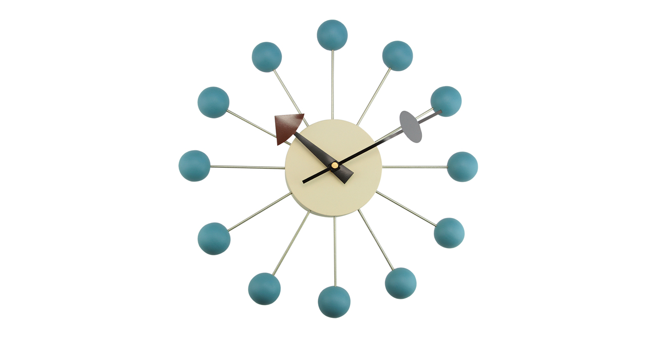 George Nelson Ball Clock, Blue
