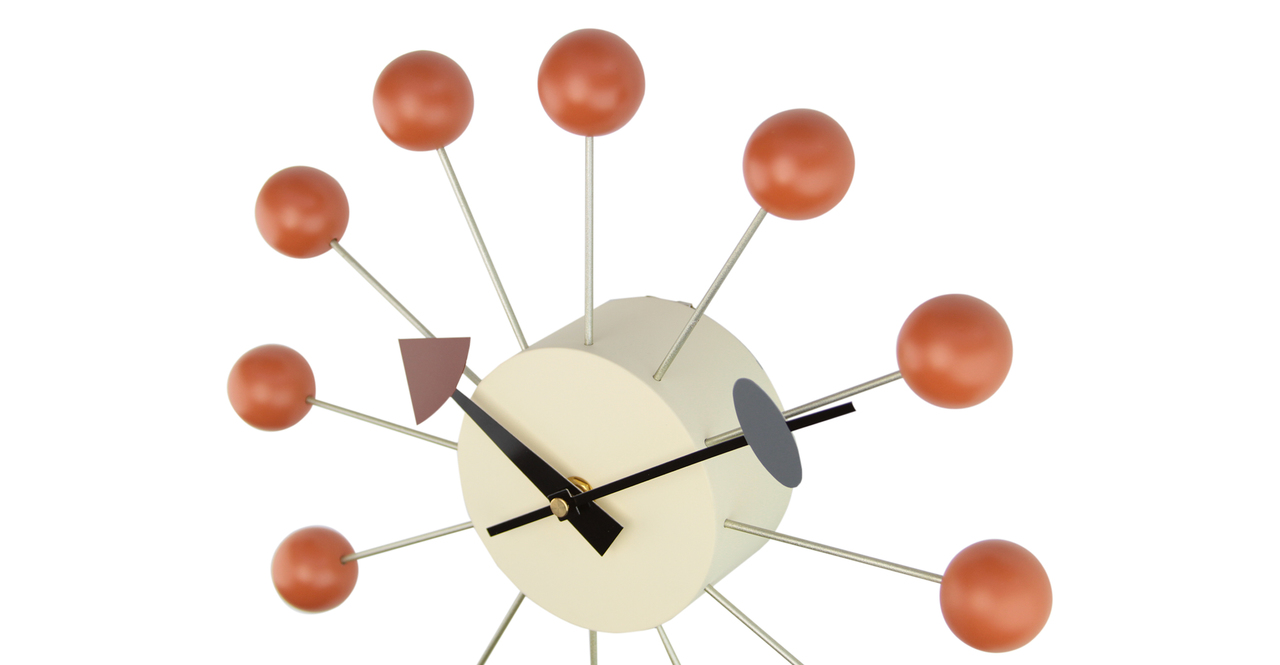George Nelson Ball Clock, Orange