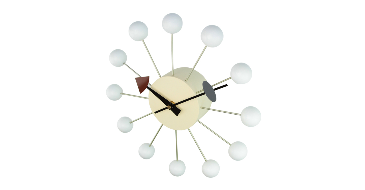 George Nelson Ball Clock, White