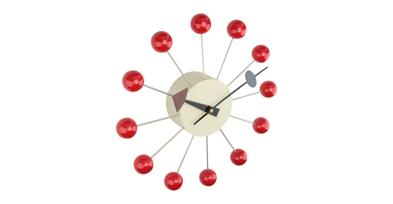 George Nelson Ball Clock, Red