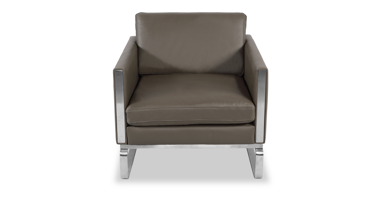 Amsterdam Chair, Grey Aniline Leather