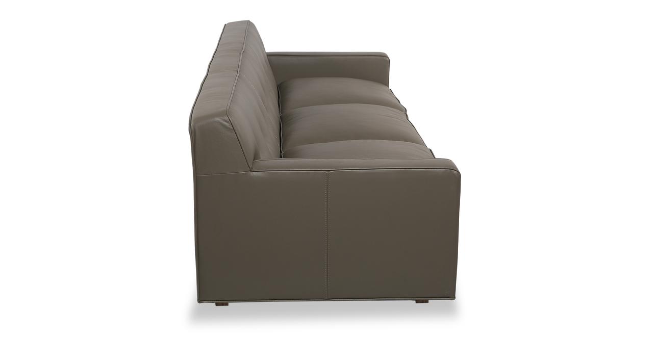 "Kennedy 86"" Leather Sofa, Grey Aniline"