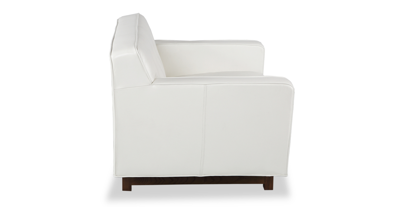 Kennedy Chair, White Aniline Leather