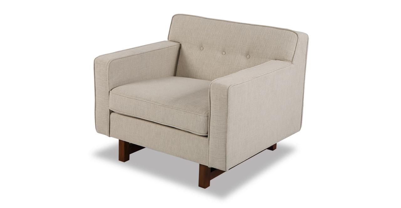 "Kennedy 35"" Fabric Chair, Urban Hemp"