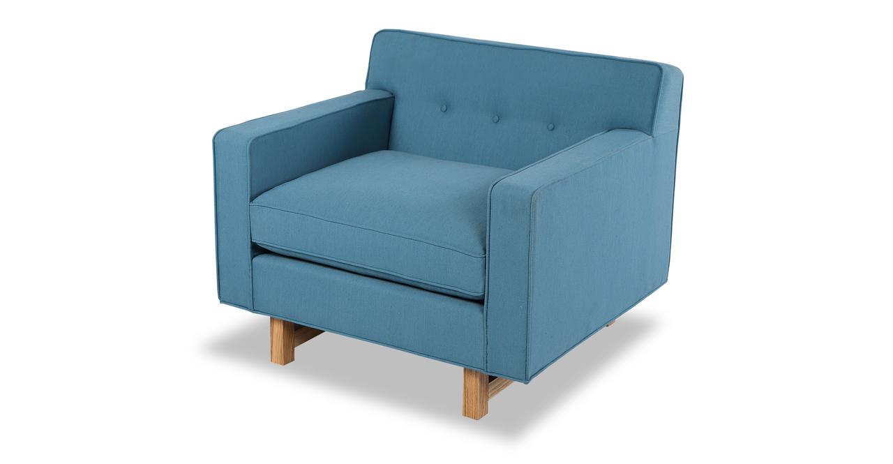 "Kennedy 35"" Fabric Chair, Ash/Urban Surf"