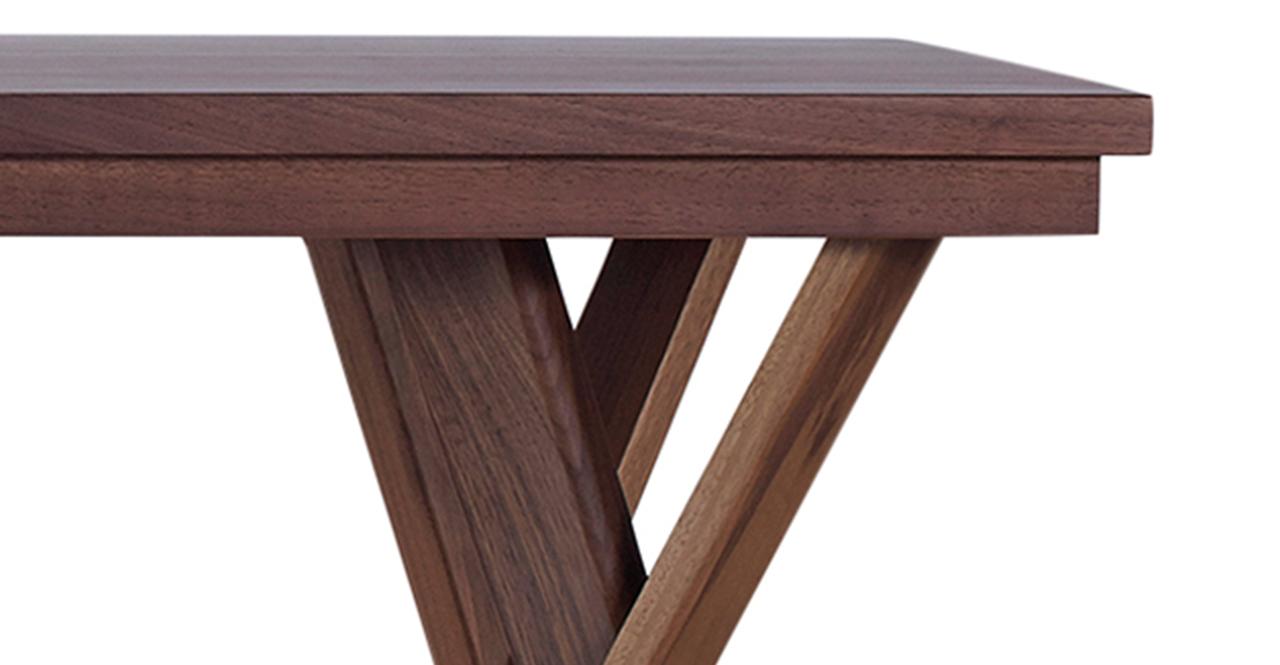 """Madrona 71"""" Dining Table, Walnut"""