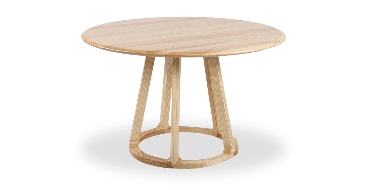 Ballard Round Dining Table, Ash