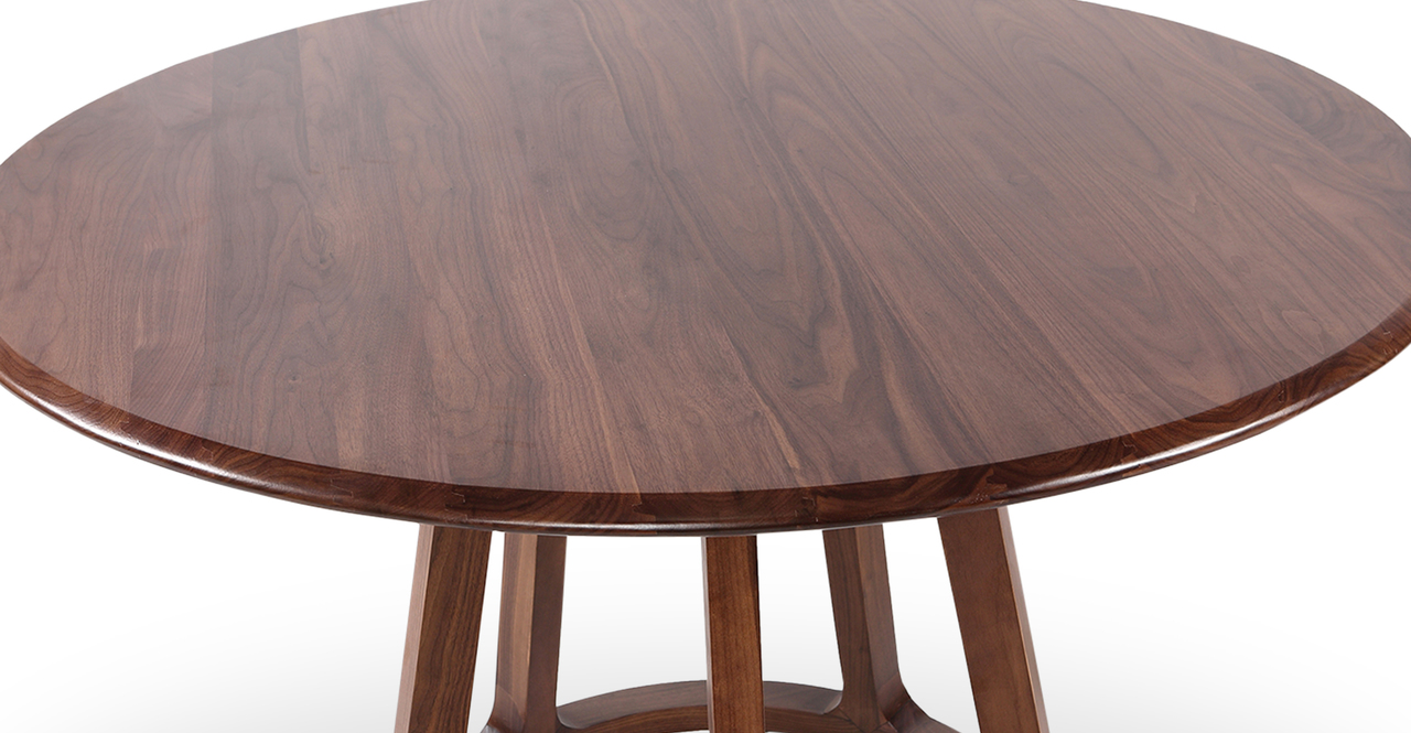 "Ballard 47"" Round Dining Table, Walnut"