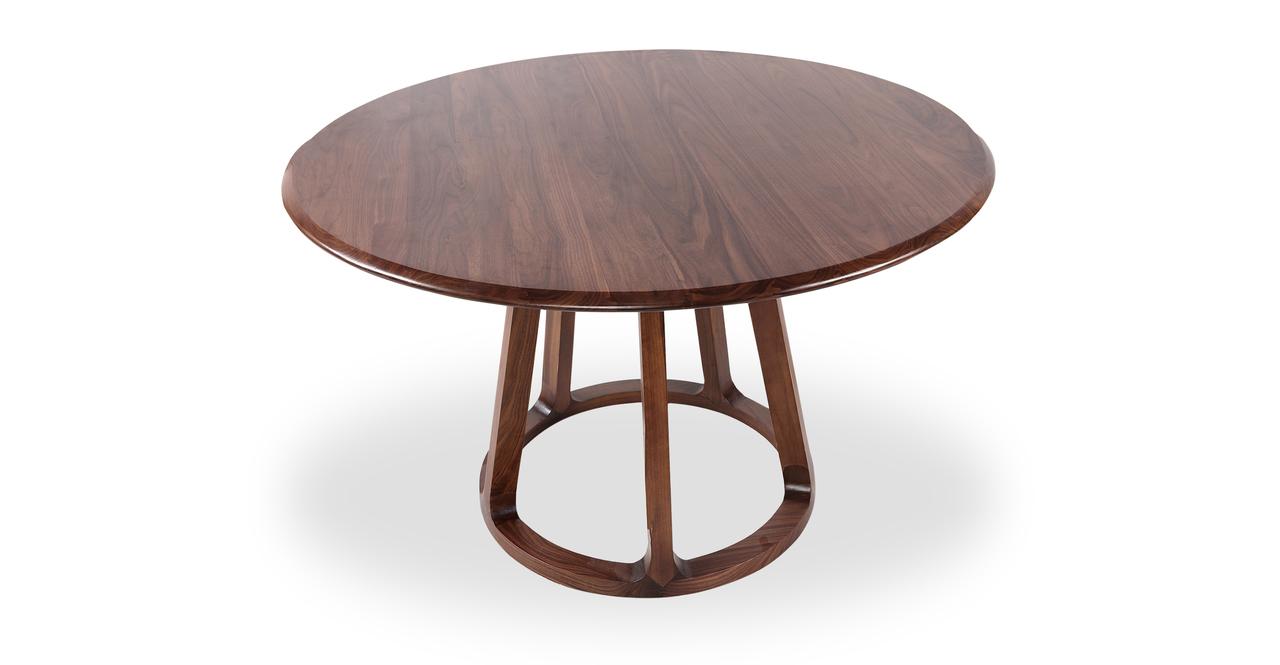 Ballard Round Dining Table, Walnut