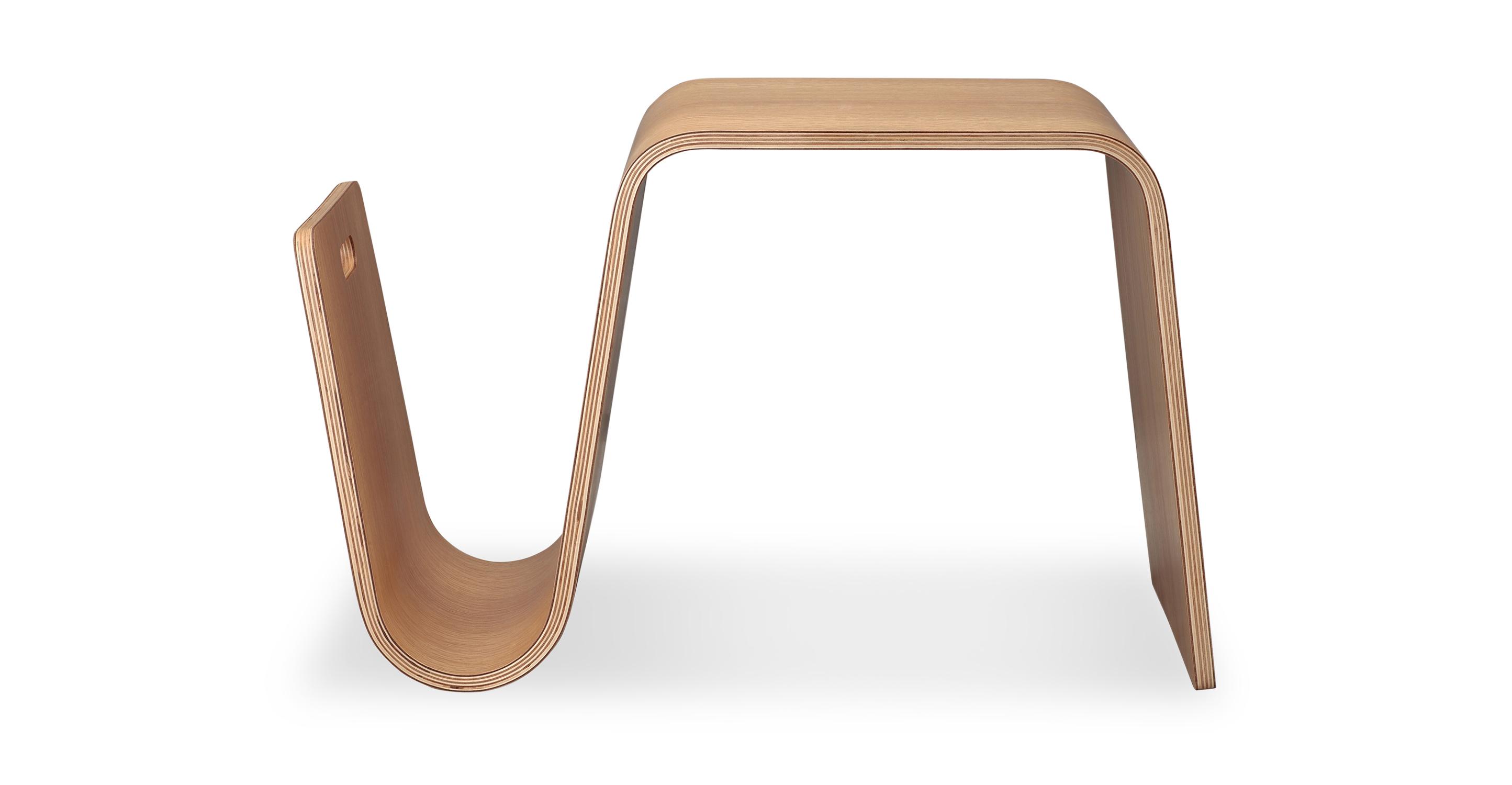 """Scan 25"""" Side Table, Natural Oak"""
