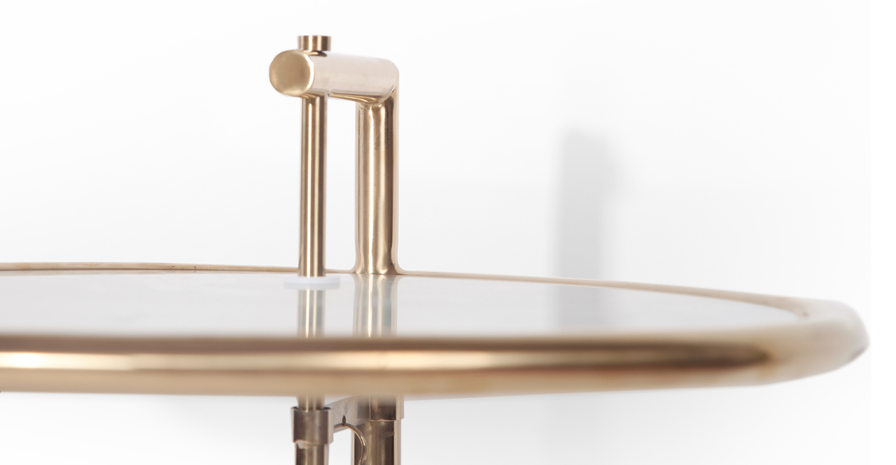 Eileen Gray Table, Gold Finish