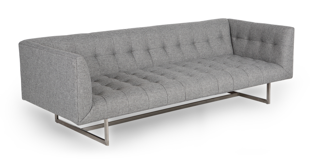 "Edward 87"" Fabric Sofa, Eames Grey"
