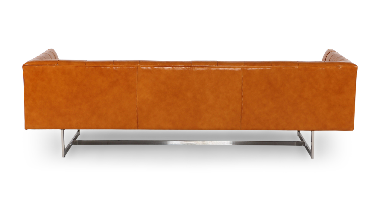 Edward Sofa, Tan Aniline Leather