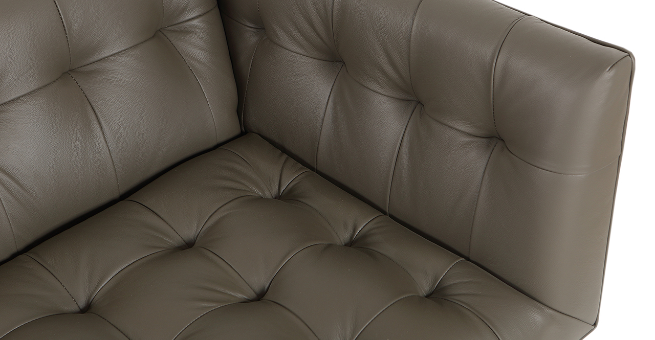 Edward Sofa Leather, Grey Aniline