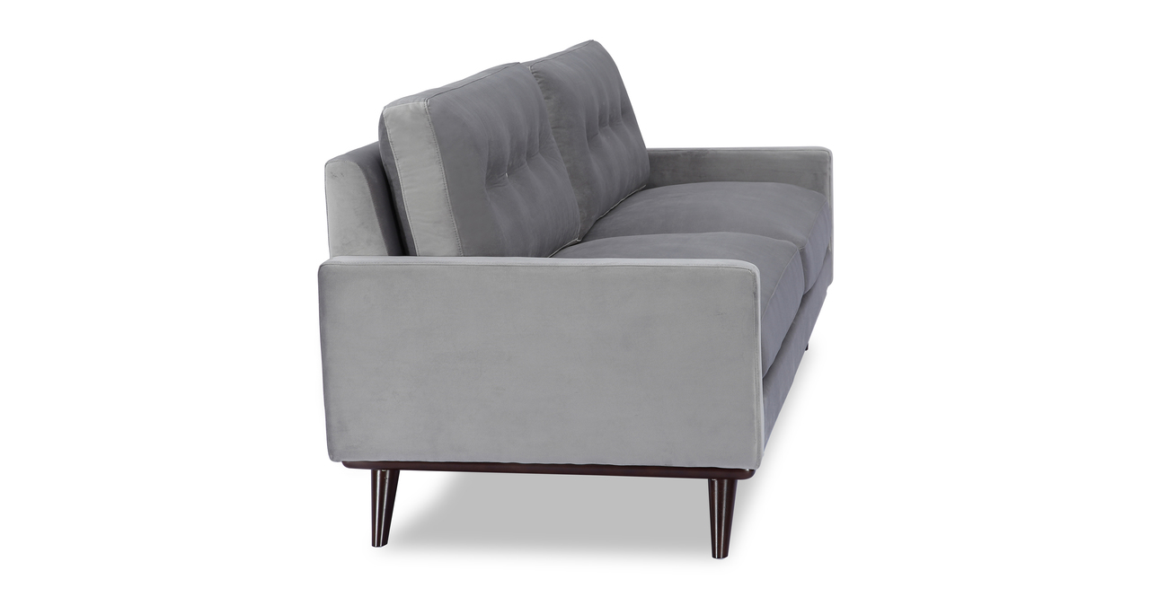 """Lucille 90"""" Fabric Sofa, Nimbus Velvet"""