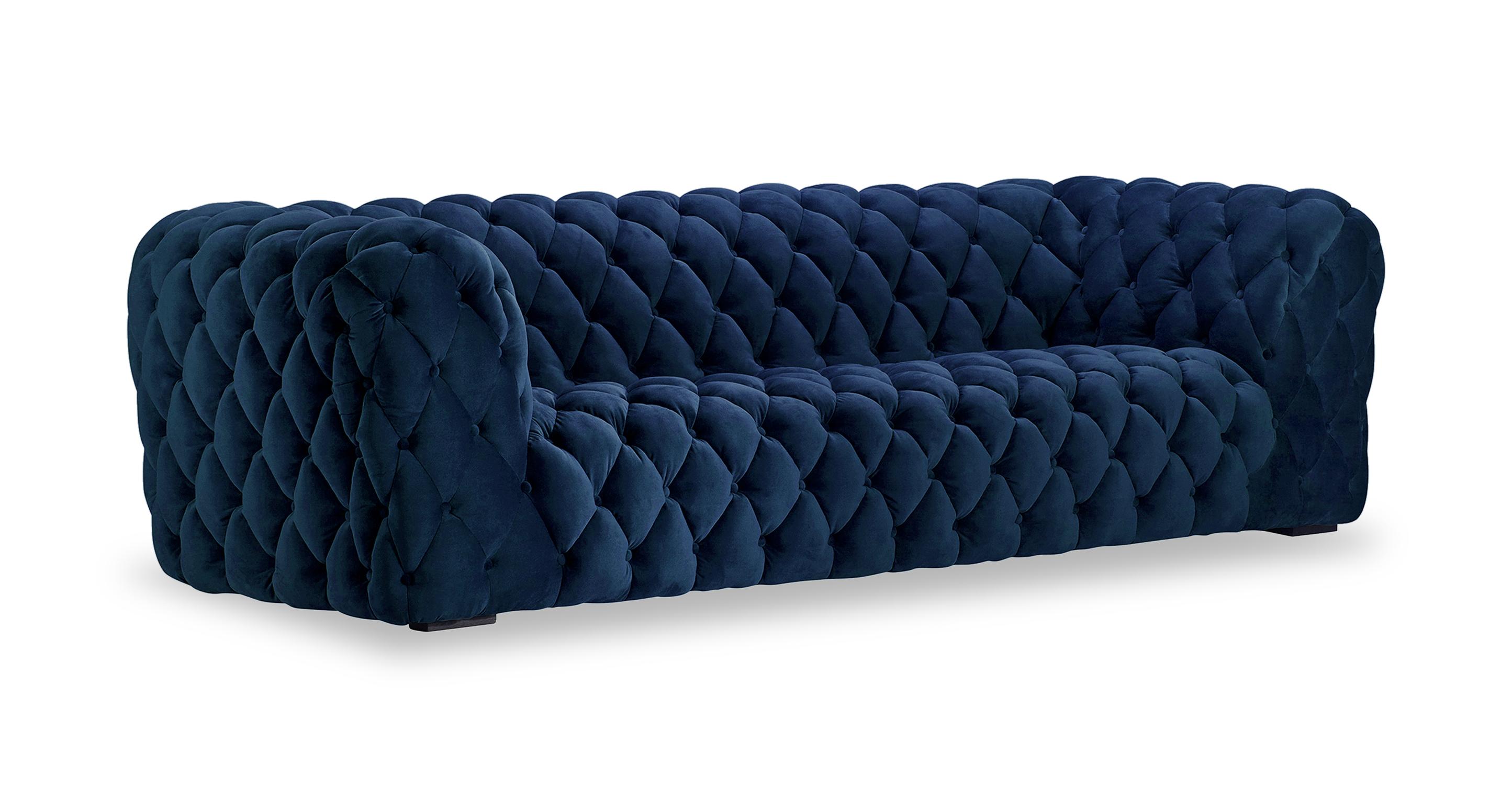 """Cumulus 98"""" Fabric Sofa, Persian Velvet"""